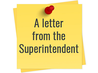 A letter from Superintendent Skorapa July 31, 2020