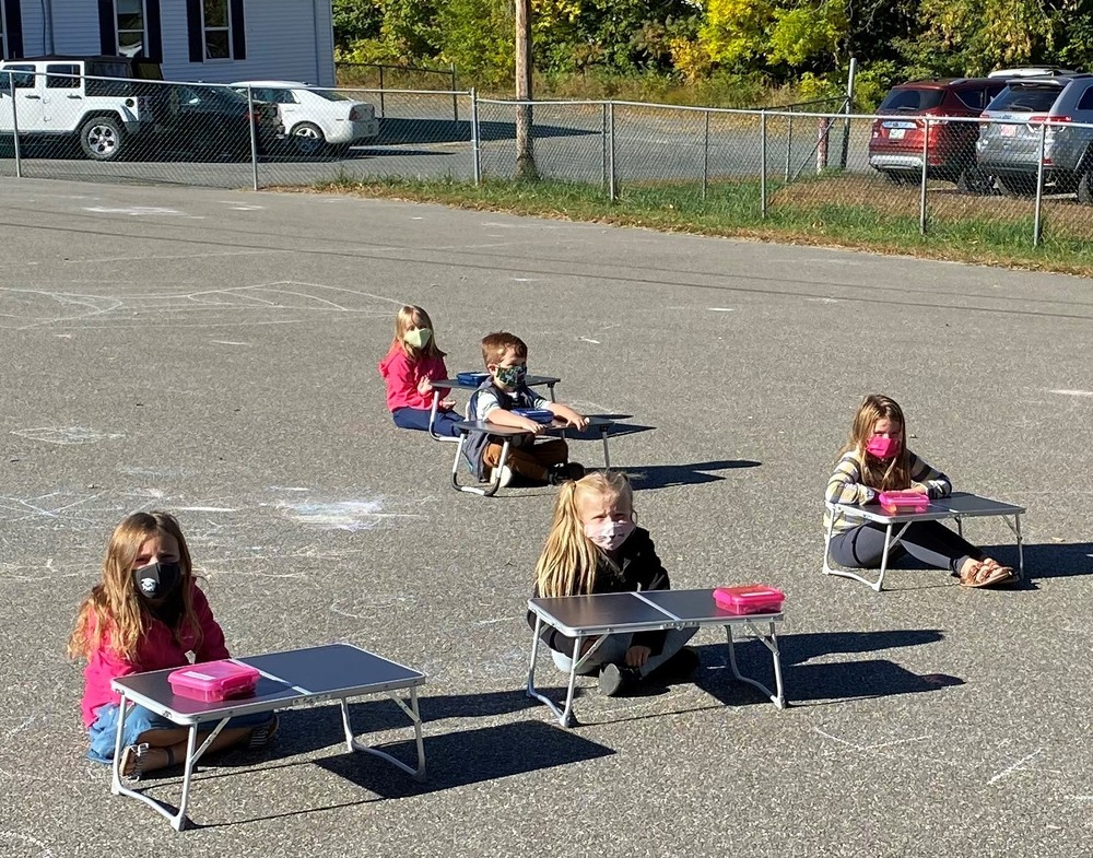 Ella P. Burr Students Enjoying Outside Learning!