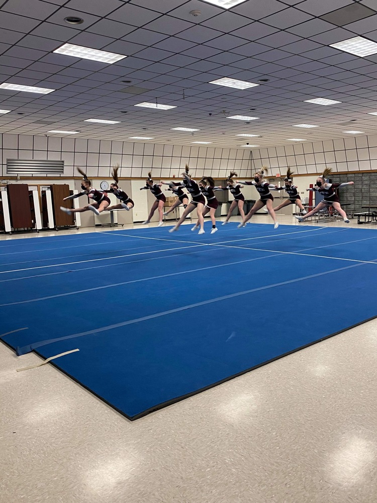 MA Cheerleaders Practice for State Competition!