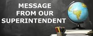 Important Announcement from Superintendent Skorapa!  12-12-2020