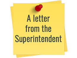 Letter from Superintendent Skorapa!
