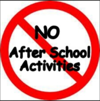 No After School Activities February 13