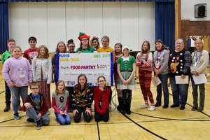 MJHS Students Raise over $2000 to support Food Cupboard